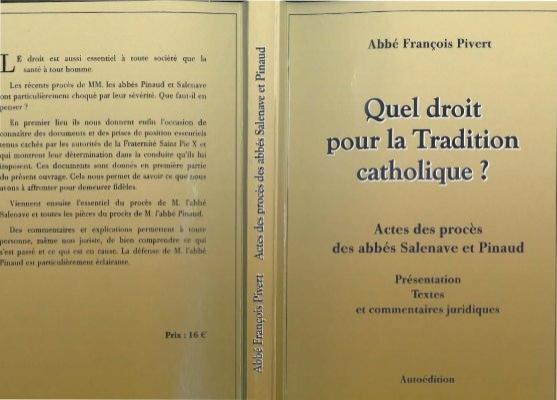 Conférence sur le procès de M.l'abbé Pinaud ancien prêtre de la FSSPX