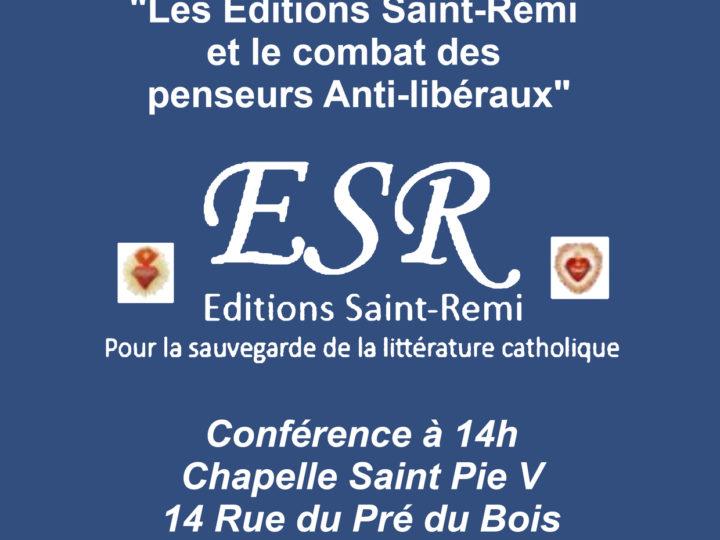 Les éditions Saint-Remi et le combat des penseurs anti-libéraux – Bruno Saglio
