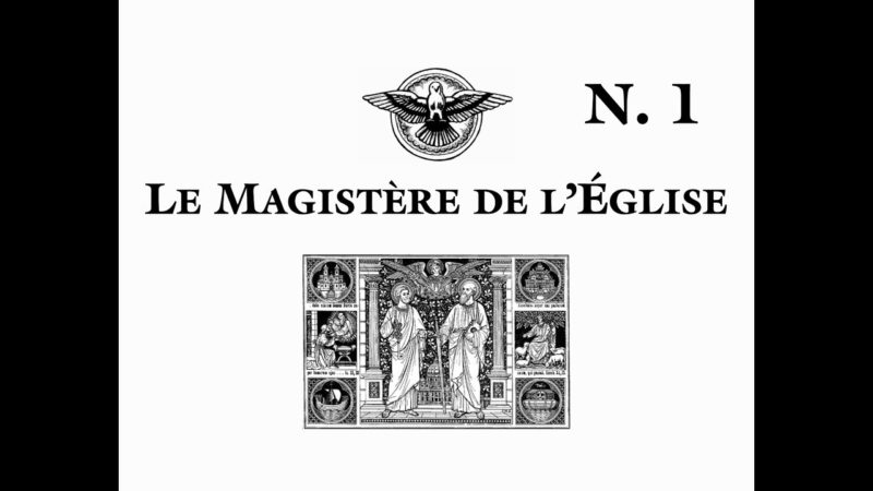 Le Magistère de l'Église – Notions fondamentales