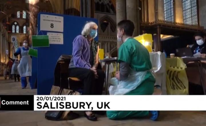La cathédrale de Salisbury devient un centre de vaccination
