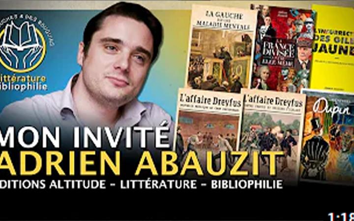 Adrien Abauzit – Editions Altitude, Littérature, Bibliophilie.