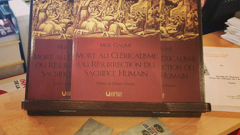 Monseigneur Gaume sur le retour du sacrifice humain