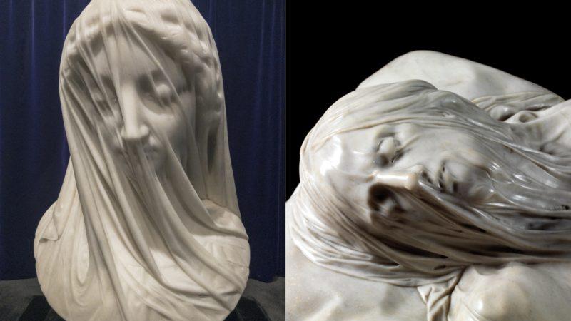 Sculptures de La Vierge et du Christ voilés : au sommet de l'art